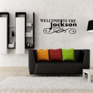 Custom welcome to 'family name' family wall tag Small 13x8(inch)