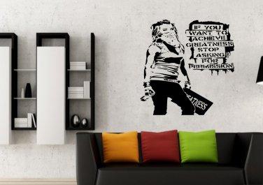 Banksy Achievements Girl X-Large 35x46(inch)