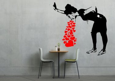 Banksy Girl Throw Up Love Large 23x40(inch)