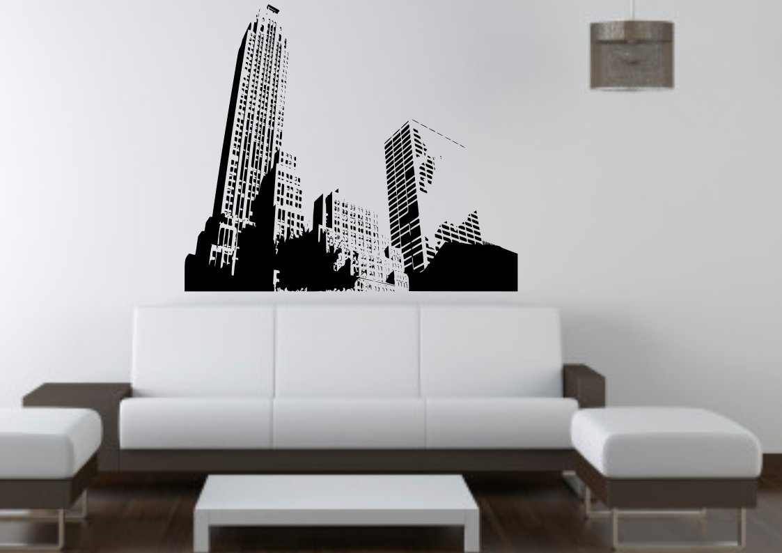 City Skyscrapers Large 30x50(inch)