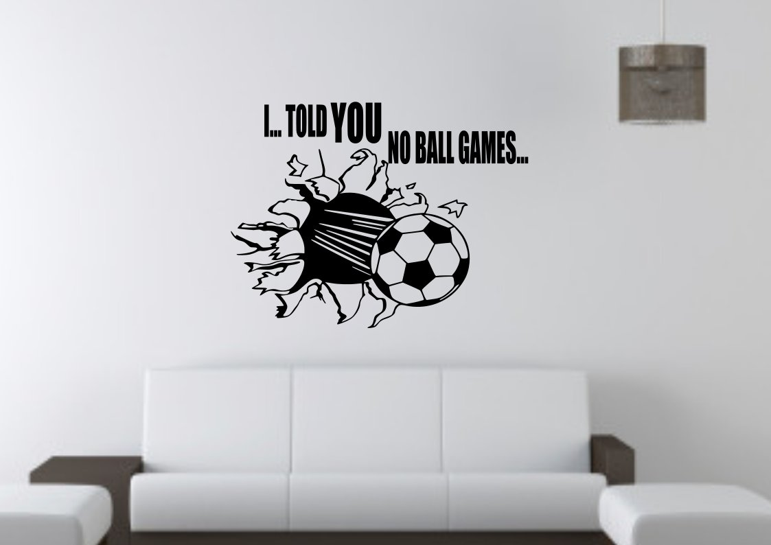 No Ball Games Ball through wall or window Large 23x23(inch)