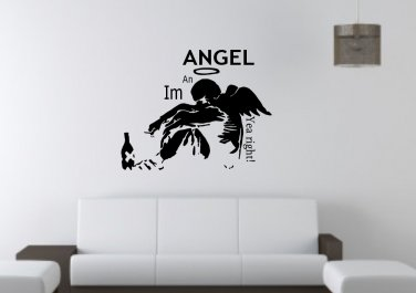 I'm an angel, yea right! Large 23x23(inch)