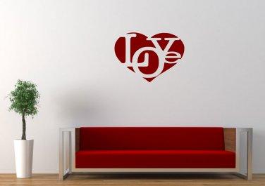 Love in love heart Small 13x13(inch)