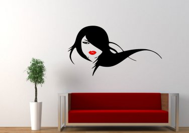 Women flowing hair red lips Large 30x23(inch)