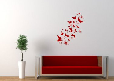 Butterflies flying Large 45x23(inch)