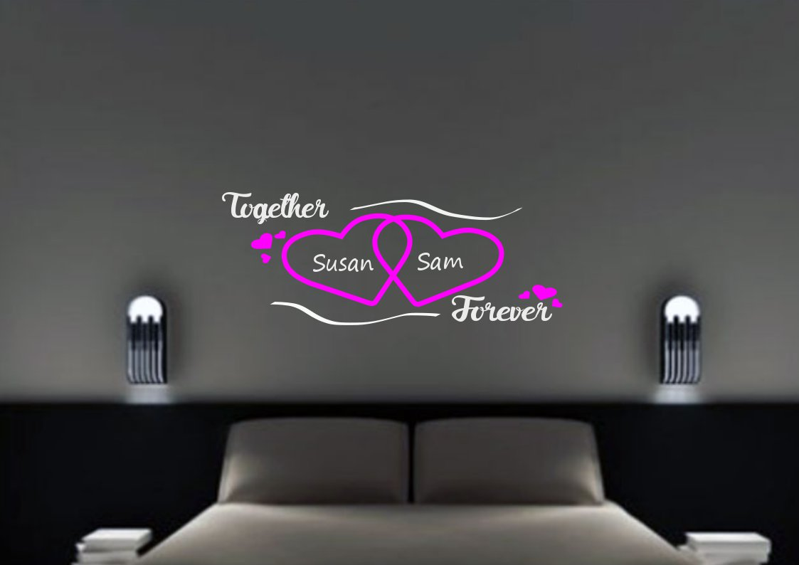 Together forever with custom names Large 35x20(inch)