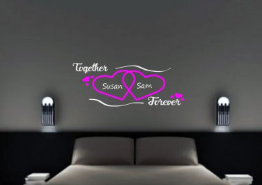 Together forever with custom names Small 20x15(inch)