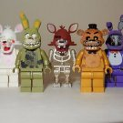 x5 **NEW** LEGO Custom Printed FNAF - Five Nights At Freddy's Minifigure Lot