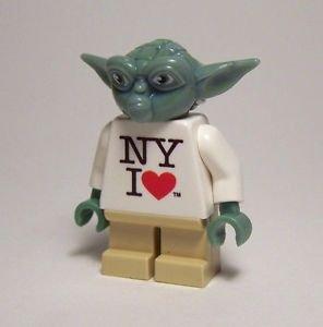 **NEW** LEGO Custom Printed NY I LOVE YODA Replica Toy Fair Minifigure