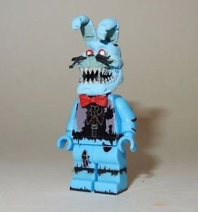 **NEW** LEGO Custom Printed FNAF - NIGHTMARE TOY BONNIE Minifigure