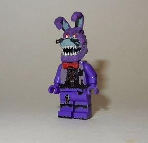 **NEW** LEGO Custom Printed FNAF - NIGHTMARE BONNIE Freddy's Minifigure