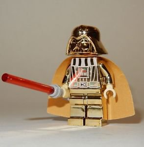 **NEW** LEGO Custom Printed CHROME DARTH VADER Gold Star Wars Sith Minifigure