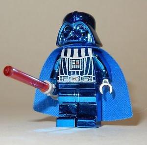 **NEW** LEGO Custom Printed CHROME DARTH VADER Blue Star Wars Sith Minifigure