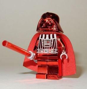 **NEW** LEGO Custom Printed CHROME DARTH VADER Red Star Wars Sith Minifigure