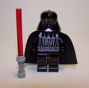 **NEW** LEGO Custom Printed CHROME DARTH VADER Black Star Wars Sith Minifigure