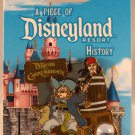 A Piece of Disneyland History Pin with Souvenir Pirates of the Caribbean L.E. 2000 Jack Sparrow