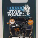 Disneyland runDisney 2017 Star Wars Half Marathon Weekend 5K Pin Jyn Erso K-2SO