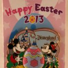 Disneyland Happy Easter 2013 Pin Mickey Mouse and Minnie Mouse Limited Edition 1000