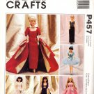 McCall's Sewing Pattern P457 Evening Gowns for Barbie Doll Uncut and Unused
