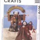 McCall's Sewing Pattern 9070 Wintery Welcome Fabric Snowman and Snow-Woman Uncut and Unused