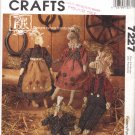 McCall's Sewing Pattern 7227 Pony Tales Fabric Boy and Girl Dolls with Outfits Uncut and Unused