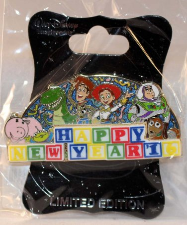 Walt Disney Imagineering WDI Happy New Year 2016 Pin Toy Story Limited Edition 250