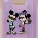 Disneyland Bon Vivant Set Number 4 Mickey and Minnie 2-Pin Set Hipster Style Limited Edition 1500