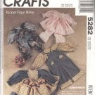 McCall's Sewing Pattern 5282 Bunny Wraps by Faye Wine Outfits for 3 Rabbit Sizes Uncut and Unused