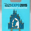 D23 Expo 2015 Mickey Mouse at Sleeping Beauty's Castle Dangle Pin Limited Release