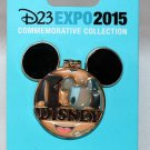 D23 Expo 2015 Mickey Mouse Face Hinged Pin I Love Disney Limited Edition 1500