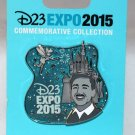 D23 Expo 2015 Walt and Tinker Bell at Sleeping Beauty's Castle Pin Limited Edition 2500