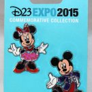 D23 Expo 2015 Mickey Mouse and Minnie Mouse 2-Pin Set Limited Edition 1000