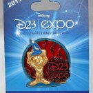 D23 Expo 2013 Stained Glass Sorcerer Mickey Pin Limited Edition 3500