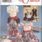 Simplicity Sewing Pattern 8457 Fabric Pig Dolls and Outfits Uncut and Unused