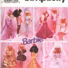 Simplicity Sewing Pattern 8157 Barbie Evening Wardrobe Uncut and Unused