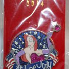 Walt Disney Imagineering WDI Holidays 2014 4th of July Pin Jessica Rabbit Limited Edition 250