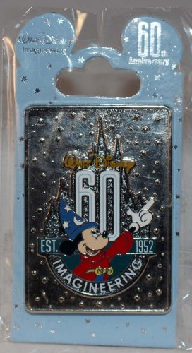 Walt Disney Imagineering WDI 60th Anniversary Sorcerer Mickey Rectangle Pin Limited Edition 300
