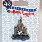 Walt Disney World Magic Kingdom 45th Anniversary Pin Cinderella Castle