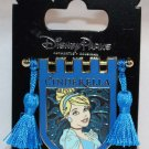 Disney Parks Princess Tapestry Pin With Tassels Cinderella
