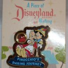 A Piece of Disneyland History Pin with Souvenir Pinocchio's Journey 2013 Limited Edition 1000