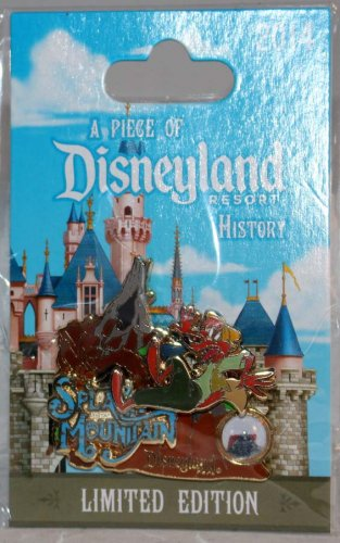A Piece of Disneyland History Pin with Souvenir Splash Mountain 2014 Limited Edition 1500