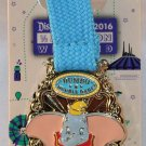 runDisney Disneyland 2016 Half Marathon Weekend Dumbo Double Dare Ribbon Pin Limited Release