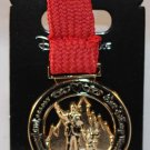 runDisney Disneyland and Walt Disney World 2016 Coast-to-Coast Challenge Ribbon Medal Pin