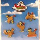 Walt Disney Imagineering WDI Goofy's Sky School Chickens 5-Pin Set Limited Edition 300