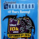 runDisney Disneyland 2015 Half Marathon Weekend 10K Run Pin Limited Release