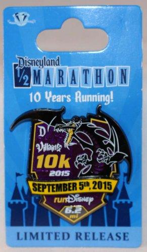 runDisney Disneyland 2015 Half Marathon Weekend 10K Run Pin Limited Release