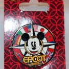Walt Disney World Epcot Flags Mickey Compass Pin