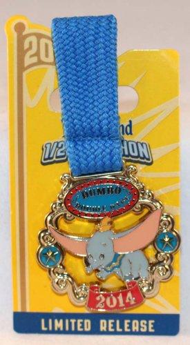runDisney Disneyland 2014 Half Marathon Weekend Dumbo Double Dare Medal Pin Limited Release