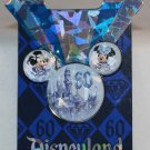 Disneyland 60th Anniversary Diamond Celebration Mickey Icon Faceted Pin