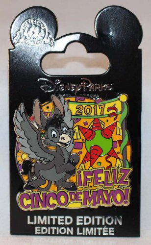 Disney Feliz Cinco De Mayo 2017 Three Caballeros Burrito Flying Donkey Pin Limited Edition 3000